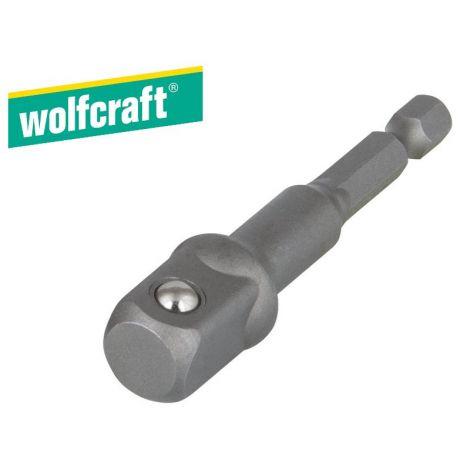 "Wolfcraft adapteri 1/2"" hylsyille"