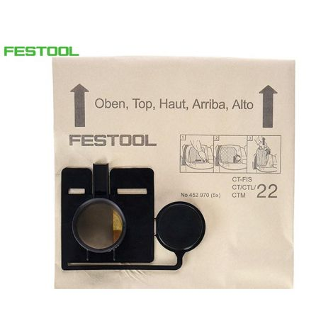 Festool CT22 pölypussit (5kpl)