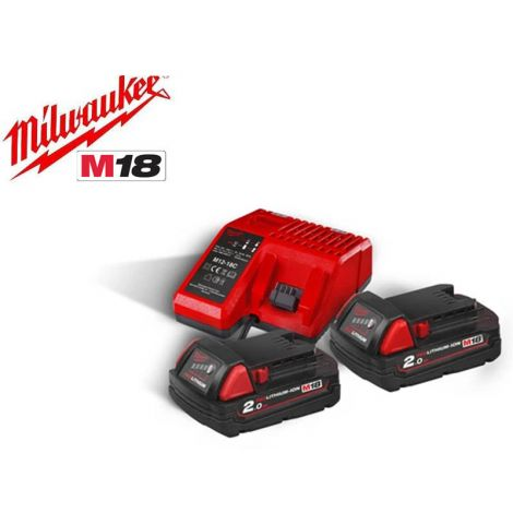 Akku+laturisarja Milwaukee M18 NRG-202