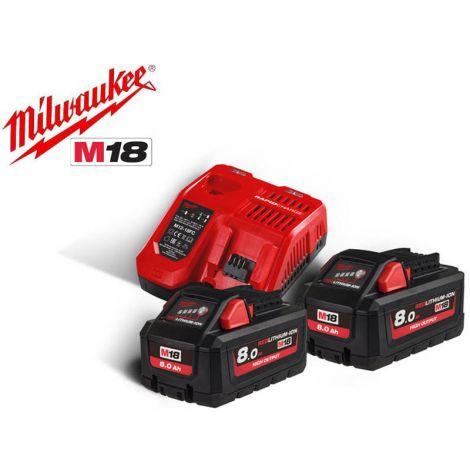 Akku+laturisarja Milwaukee M18 HNRG-802