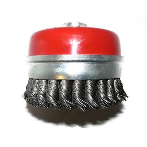Palmikoitu teräsharja 100mm (M14)