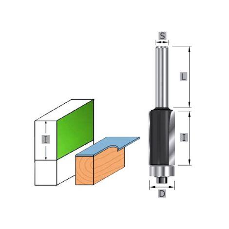 Laakeriohjattu reunajyrsin (varsi 8mm)
