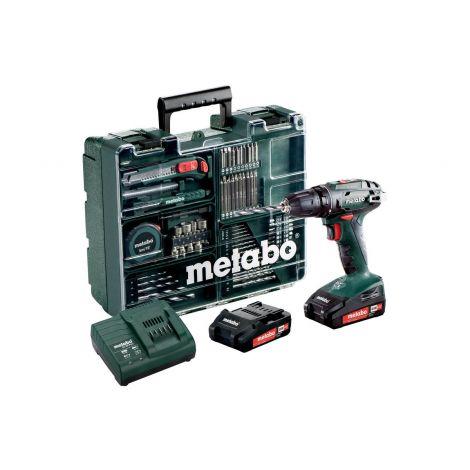 Metabo BS 18 Set -akkuporakone + tarvikevalikoima