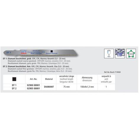 Pistosahanterä Wilpu DT1 (1kpl)