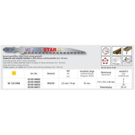 Pistosahanterä Wilpu HC-123 STAR