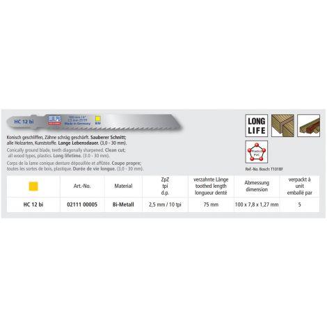 Pistosahanterä Wilpu HC-12bi (5kpl)