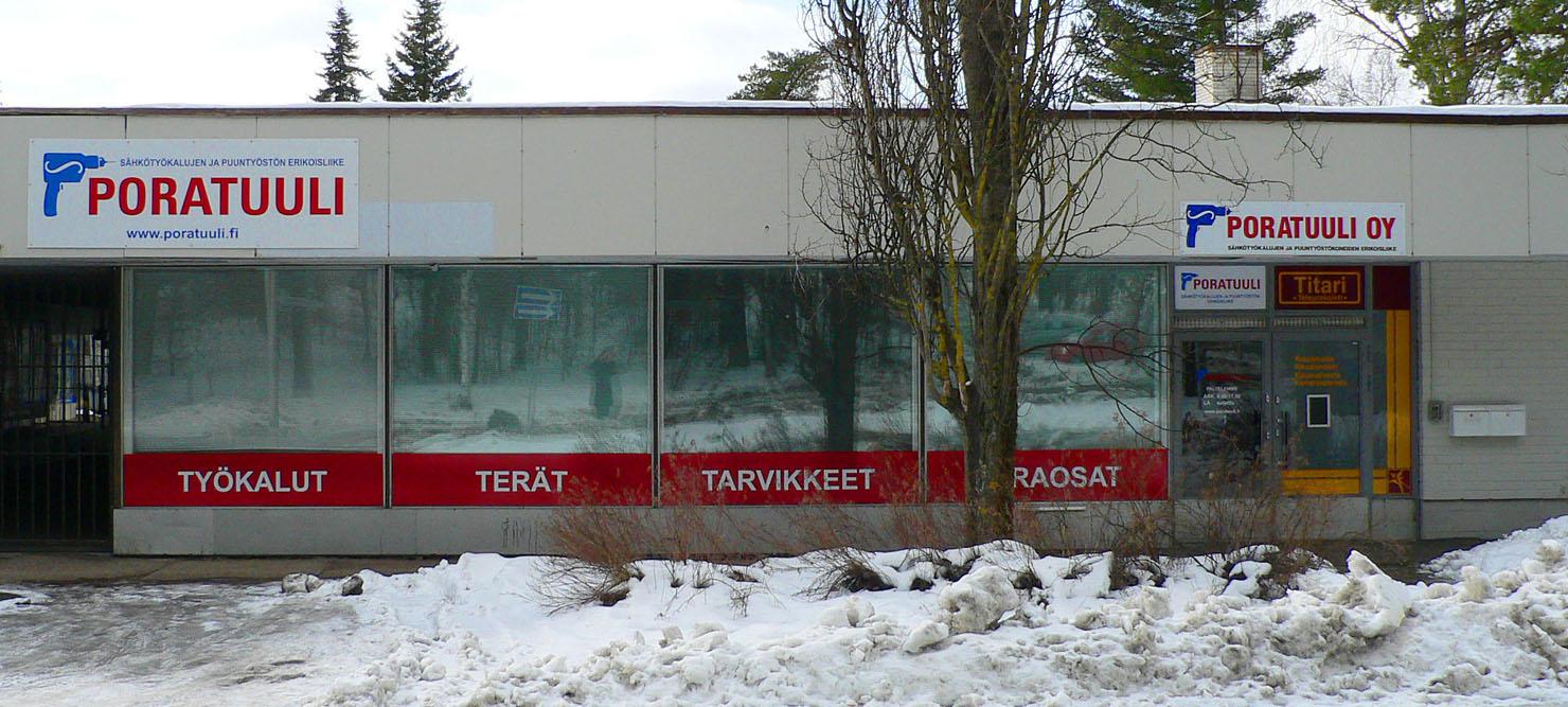 Poratuuli Oy, myymälämme Kouvolassa